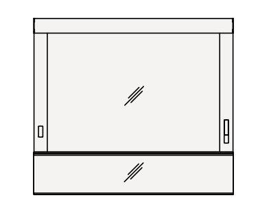 【最安値挑戦中!最大24倍】クリナップ ミラーキャビネット M-121WAM Tiarisティアリス 間口120cm ワイド1面鏡 蛍光灯 奥行12cm 高さ106cm [♪△]