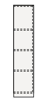 【最安値挑戦中!最大33倍】クリナップ トールキャビネット(上台) AMTU25A Tiarisティアリス 間口25cm (R/L) 片面収納タイプ 奥行59cm 高さ108cm [♪△]