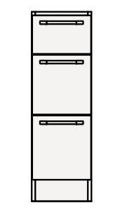 【最安値挑戦中!最大33倍】クリナップ トールキャビネット(下台) AMTF25BS Tiarisティアリス 間口25cm 引出しタイプ サイレントレールH80cm 奥行59cm 高さ83cm [♪△]