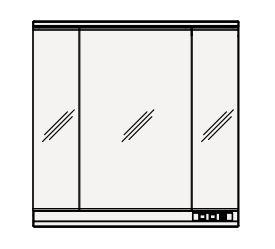 【まいどDIY】クリナップ ミラーキャビネット M-903SRNE S(エス) 間口90cm 3面鏡 LED 奥行19.4cm 高さ90cm [♪△]