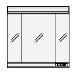 【まいどDIY】クリナップ ミラーキャビネット M-903SRNK S(エス) 間口90cm 3面鏡 蛍光灯 奥行18cm 高さ90cm [♪△]