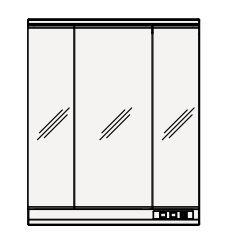 【まいどDIY】クリナップ ミラーキャビネット M-753SRNE S(エス) 間口75cm 3面鏡 LED 奥行19.4cm 高さ90cm [♪△]
