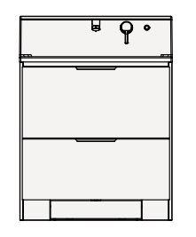 【まいどDIY】クリナップ 洗面化粧台 BSRL75KSSYW S(エス) 間口75cm オールスライドタイプ(体重計収納付き) スタンダード 奥行57.5cm 高さ105cm [♪△]