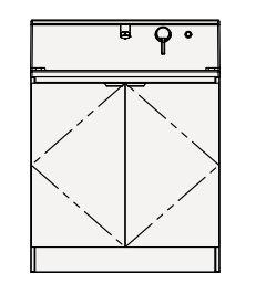 【まいどDIY】クリナップ 洗面化粧台 BSRH75TNSYW S(エス) 間口75cm 開きタイプ スタンダード 奥行57.5cm 高さ105cm [♪△]