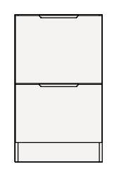【まいどDIY】クリナップ トールキャビネット(下台) SRTFH45BS S(エス) 間口45cm 引出しタイプ ハイグレード 奥行55cm 高さ77.5cm [♪△]