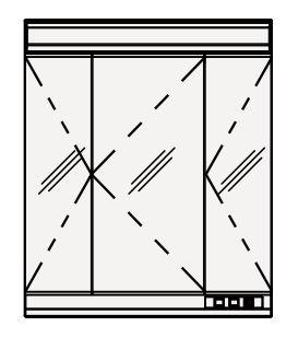 【まいどDIY】クリナップ ミラーキャビネット M-753NFNK FANCIO(ファンシオ) 間口75cm 3面鏡 蛍光灯 奥行18cm 高さ90cm [♪△]