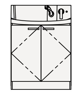 【まいどDIY】クリナップ 洗面化粧台 BNFL75TNMCW FANCIO(ファンシオ) 間口75cm 開きタイプ ハイグレード 奥行57.5cm 高さ100cm [♪△]