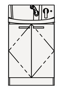 【最安値挑戦中!最大25倍】クリナップ 洗面化粧台 BNFH60TNMCW FANCIO(ファンシオ) 間口60cm 開きタイプ スタンダード 奥行57.5cm 高さ105cm [♪△]