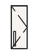【まいどDIY】クリナップ トールウォールキャビネット NFTW15 FANCIO(ファンシオ) 間口15cm (R・L) スタンダード 奥行55cm 高さ40cm [♪△]