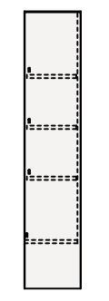 【最大44倍スーパーセール】クリナップ トールキャビネット(上台) NFTU25 FANCIO(ファンシオ) 間口25cm 片面収納タイプ(R・L) スタンダード 奥行55cm 高さ112.5cm [♪△]