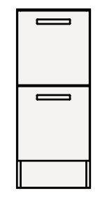 【最安値挑戦中!最大25倍】クリナップ トールキャビネット(下台) NFTFH30BH FANCIO(ファンシオ) 間口30cm 引出しタイプ スタンダード 奥行55cm 高さ82.5cm [♪△]