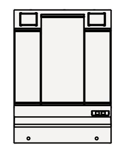 【最大44倍スーパーセール】クリナップ ミラーキャビネット M-L753GAKH BGAシリーズ 間口75cm 3面鏡 蛍光ランプ 奥行11cm 高さ97.5cm [♪▲]