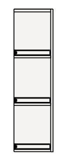 【最大44倍スーパーセール】クリナップ サイドキャビネット(上台) GASU25 BGAシリーズ 間口25cm 片面収納タイプ(R・L) ハイグレード 奥行25cm 高さ72.5cm [♪▲]