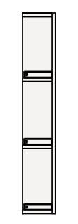 【最大44倍スーパーセール】クリナップ サイドキャビネット(上台) GASU15 BGAシリーズ 間口15cm 片面収納タイプ(R・L) ハイグレード 奥行25cm 高さ72.5cm [♪▲]
