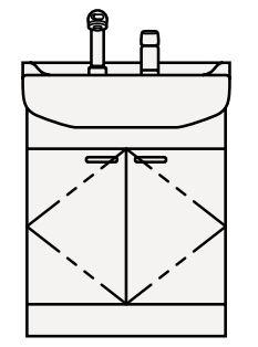 【最安値挑戦中!最大25倍】クリナップ 洗面化粧台 BTS60W-W BTSシリーズ 間口60cm 開きタイプ ツインハンドル水栓 奥行56cm 高さ79cm [♪△]