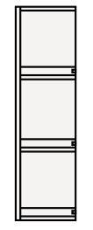 【最安値挑戦中!最大25倍】クリナップ サイドキャビネット(上台) SCS-25U BTSシリーズ 間口25cm (R・L) 奥行30cm 高さ90cm [♪△]