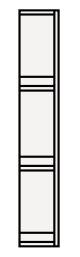 【最安値挑戦中!最大34倍】クリナップ サイドキャビネット(上台) SCS-15U BTSシリーズ 間口15cm (R・L) 奥行30cm 高さ90cm [♪△]
