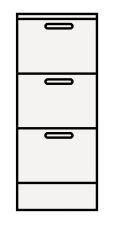 【まいどDIY】クリナップ サイドキャビネット(下台) TSS-25FBW BTSシリーズ 間口25cm 奥行44.5cm 高さ67.5cm [♪△]