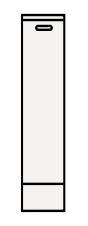 【まいどDIY】クリナップ サイドキャビネット(下台) TSSF15K BTSシリーズ 間口15cm (R・L) 奥行44.5cm 高さ67.5cm [♪△]