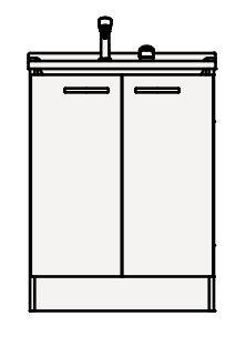 【まいどDIY】クリナップ 洗面化粧台 BGAL60TNMKW BGAシリーズ 間口60cm 開きタイプ シャワー付シングルレバー水栓 スタンダード 奥行50cm 高さ82.5cm [♪▲]