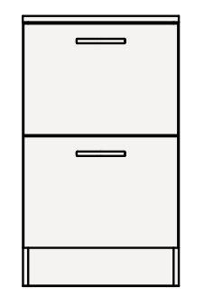 【まいどDIY】クリナップ サイドキャビネット(下台) GASFL45BH BGAシリーズ 間口45cm 引出しタイプ スタンダード 奥行47cm 高さ77.8cm [♪▲]