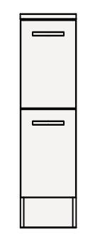 【最安値挑戦中!最大25倍】クリナップ サイドキャビネット(下台) GASFL25BH BGAシリーズ 間口25cm 引出しタイプ ハイグレード 奥行47cm 高さ77.8cm [♪▲]