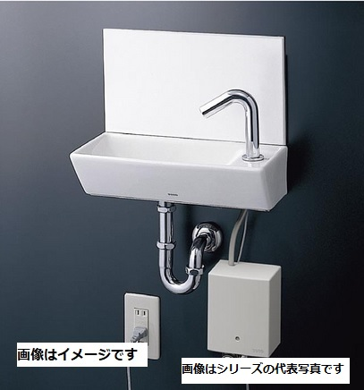 【最安値挑戦中!最大34倍】TOTO 手洗器 LSE40AASRZ 壁掛手洗器角型セット 台付自動水栓(単水栓 AC100V) 床排水金具(25mm Sトラップ) 壁給水[♪■]