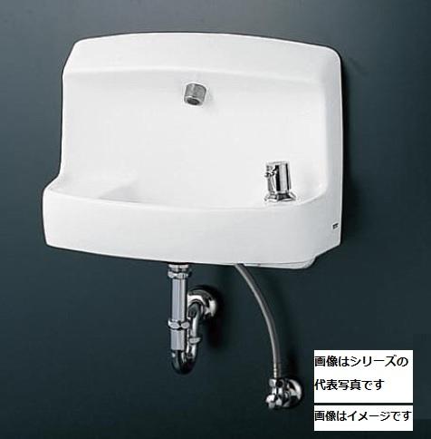 【最安値挑戦中!最大23倍】TOTO 手洗器 LSE870BSMR 壁掛手洗器セット 自動水栓(単水栓 AC100V) 床排水金具 Sトラップ 水石けん入れ[♪■]