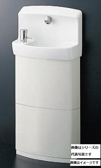 【最安値挑戦中!最大24倍】TOTO 手洗器 LSK870ASFRMR 壁掛手洗器セット 自閉式水栓(埋込) 床排水 Sトラップ トラップカバー アングル形止水栓水石けん入れ[♪■]