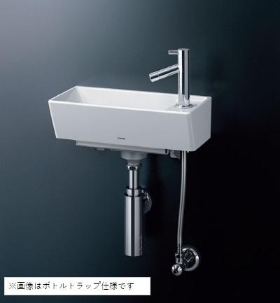 【最安値挑戦中!最大25倍】TOTO 手洗器 LSH50BS 壁掛手洗器角型(立水栓セット) Sトラップ 床給水・床排水 [♪■]