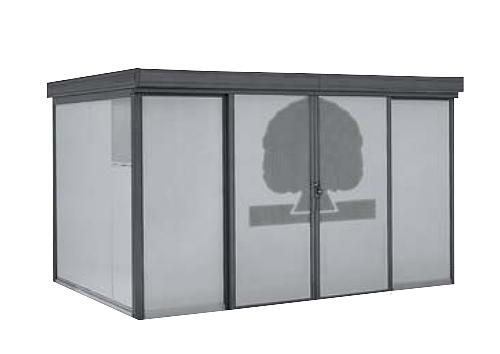 【最安値挑戦中!最大34倍】ヨド物置 ダストピット DPFWS-3725 FWタイプ(DPFW型) 間口3m73cm ×奥行2m53cm 積雪型 ゴミ収集庫 集合住宅用 [♪▲]