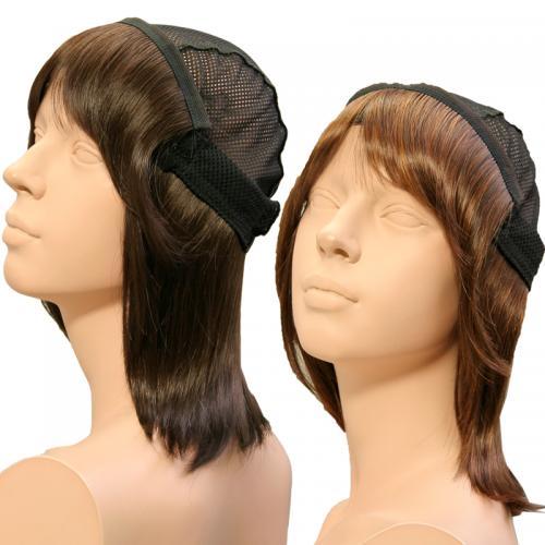 【メーカー直送/代引不可】髪の毛帽子 With Wig(ウィズウィッグ)アタッチウィッグ ミディアム(3点セット)※メーカー直送の為、お届けまでに3~7日のお時間を頂きます。
