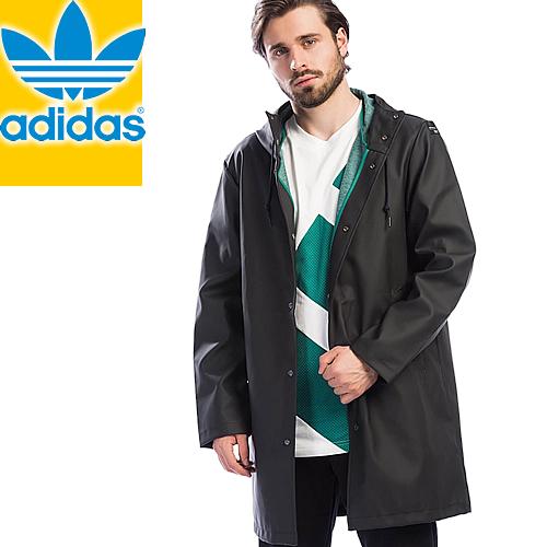 アディダス ジャケット 長袖 メンズ レインジャケット ブラック 黒 ロゴ オリジナルス adidas EQT RAIN JACKET CV8925 [S]