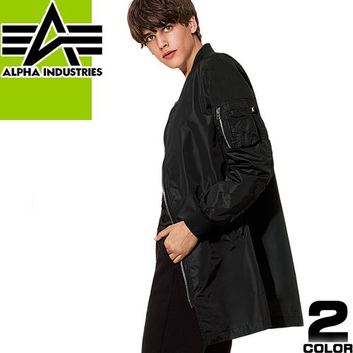 アルファ インダストリーズ MA-1 ロング LONG メンズ ジャケット フライトジャケット ミリタリージャケット ブルゾン 大きいサイズ 中綿 Alpha Industries