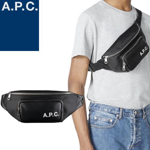 APC A.P.C. アーペーセー 二つ折り財布 TRANSVERSAL LOGO COMPACT WALLET PUAAJ H63300 ブラック 黒 [S]