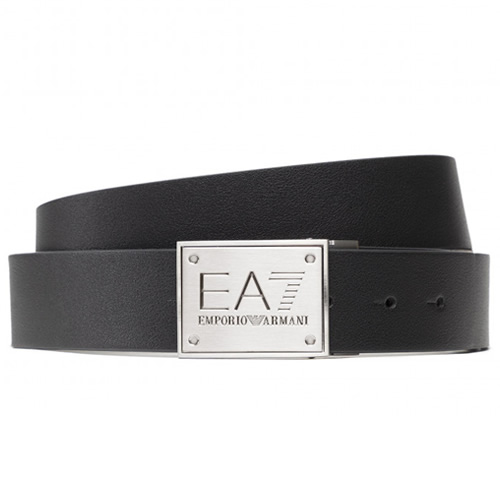 エンポリオアルマーニ Emporio Armani ベルト メンズ 本革 バックル ブランド ブラック カジュアル ビジネス 大きいサイズ [S]