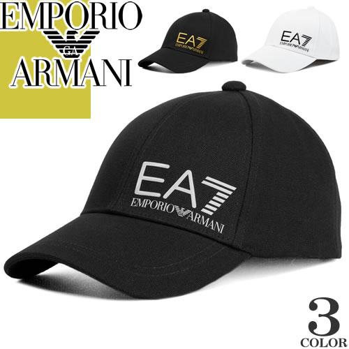 エンポリオアルマーニ EMPORIO ARMANI EA7 キャップ 帽子 メンズ 2019年秋冬新作 ベースボールキャップ スナップバックキャップ ブランド 大きいサイズ 黒 ブラック 275887 9A501 [S]