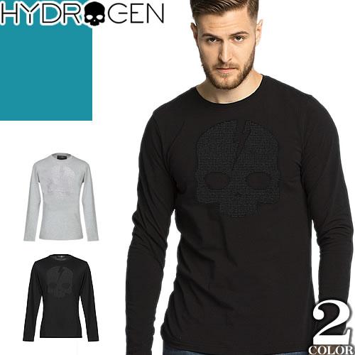 ハイドロゲン Hydrogen ロンT Tシャツ メンズ 長袖 トップス カットソー 黒 迷彩 綿100% 大きいサイズ ロゴ スカル 秋 おすすめ 2018 ブランド かっこいい 230126 [ネコポス発送]