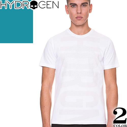 [最終SALE] ハイドロゲン Hydrogen Tシャツ メンズ 半袖 2019年新作 白 黒 ブランド 大きいサイズ クルーネック 丸首 プリント ロゴ おしゃれ 240626 [ネコポス発送]