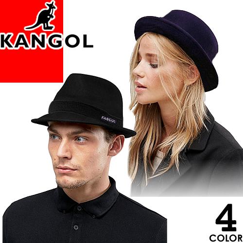 カンゴール KANGOL ハット 帽子 メンズ レディース ワンポイント ロゴキャップ 中折れ ソフトハット ウール カジュアル 大きいサイズ おしゃれ 黒 ブラック Wool Player