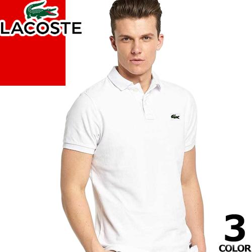 ラコステ LACOSTE ポロシャツ L1212 メンズ 半袖 クラシック ピケ メンズ おしゃれ ブランド ゴルフ 大きいサイズ 鹿の子 父の日 ホワイト ブラック ネイビー 白 黒 CLASSIC PIQUE POLO SHIRT [ネコポス発送]