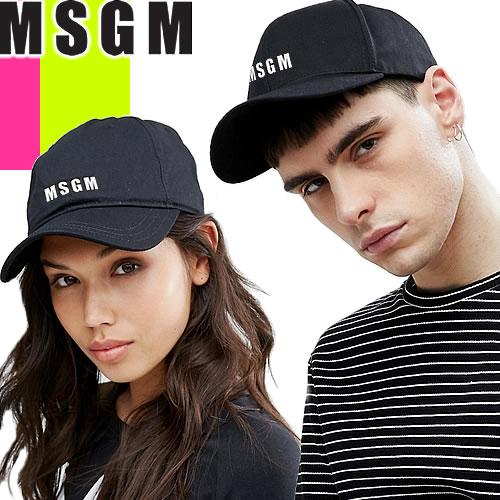 エムエスジーエム MSGM キャップ 帽子 メンズ レディース 2019年春夏新作 ブランド ロゴ 無地 ワンポイント ブラック 黒 2640ML05 195021 [S]