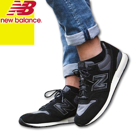 [最終SALE14,904円→11,990円] ニューバランス スニーカー シューズ メンズ レディース 996 黒 ブラック NEW BALANCE MRL996MS 靴 カジュアル おしゃれ