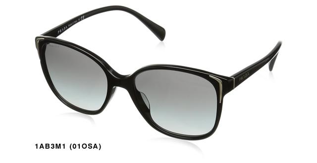 プラダ PRADA サングラス レディース メンズ ブランド UVカット 薄い 色 紫外線対策ウェリントン 01OSA 1AcRS3LAjq54