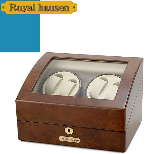 ロイヤルハウゼン ワインディングマシン 4本 時計 自動巻き 高級ワインダー ウォッチワインダー ワインディングマシーン 4本巻+5本収納 ケース Royal hausen GC03-D31