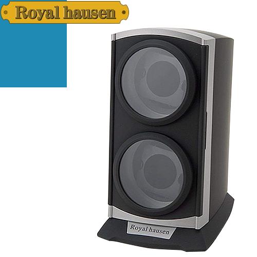 ロイヤルハウゼン ワインディングマシン ウォッチワインダー ワインディングマシーン 2本 時計 マブチモーター 時計ケース 自動巻き 収納 ケース Royal hausen RH001