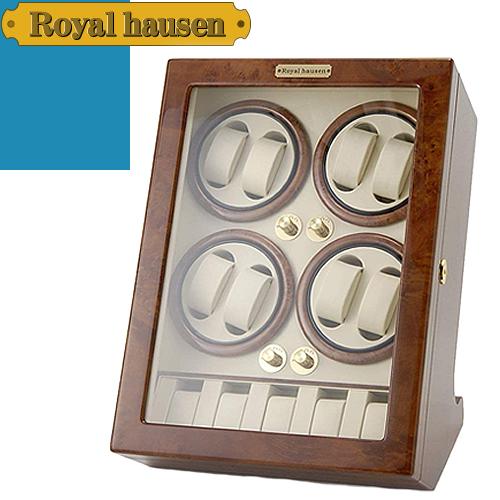 ロイヤルハウゼン ワインディングマシン ウォッチワインダー ワインディングマシーン 5本 時計 マブチモーター 時計ケース 自動巻き 8本巻 収納 ケース Royal hausen GC03-Q88