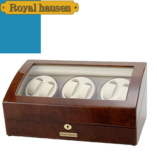 ロイヤルハウゼン ワインディングマシン ウォッチワインダー ワインディングマシーン 7本 時計 マブチモーター 時計ケース 自動巻き 6本巻 収納 ケース Royal hausen GC03-T31