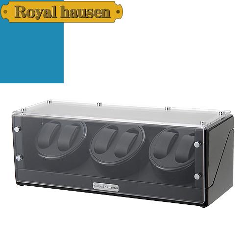 ロイヤルハウゼン ワインディングマシン ウォッチワインダー ワインディングマシーン 6本 時計 マブチモーター 時計ケース 自動巻き 収納 ケース Royal hausen GC03-T102BB