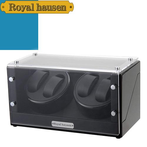 ロイヤルハウゼン ワインディングマシン ウォッチワインダー ワインディングマシーン 4本 時計 マブチモーター 時計ケース 自動巻き 収納 ケース Royal hausen GC03-D102BB